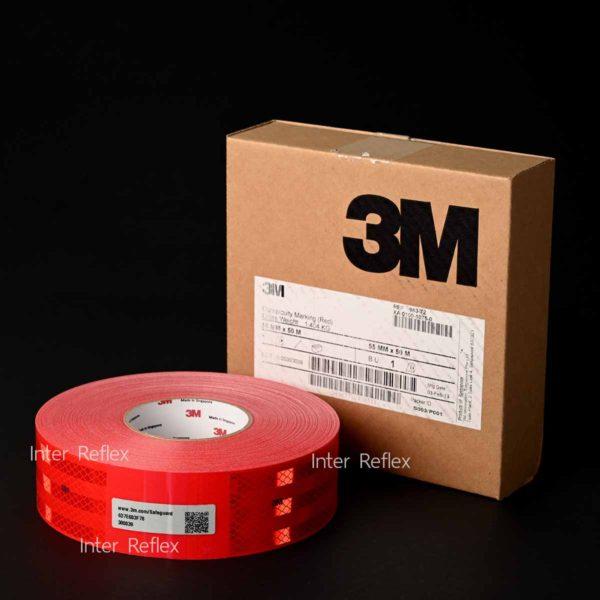 สติ๊กเกอร์สะท้อนแสง 3M สีแดง