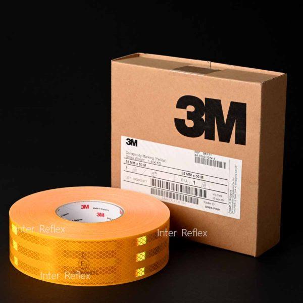 สติ๊กเกอร์สะท้อนแสง 3M สีเหลือง