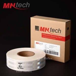 สติ๊กเกอร์สะท้อนแสง MNtech สีขาว