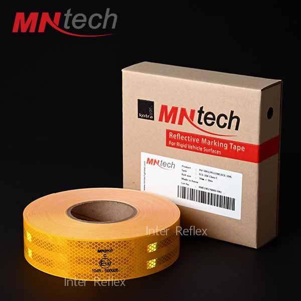 สติ๊กเกอร์สะท้อนแสง MNtech สีเหลือง